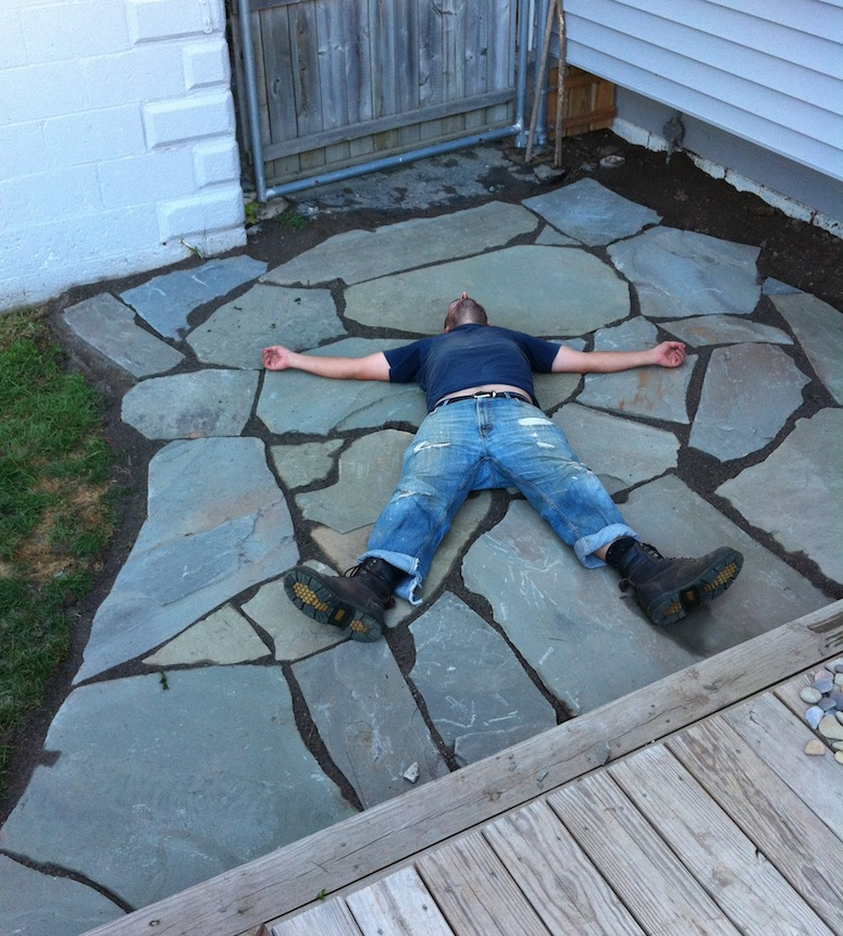 One Man Day Brand New Flagstone Patio