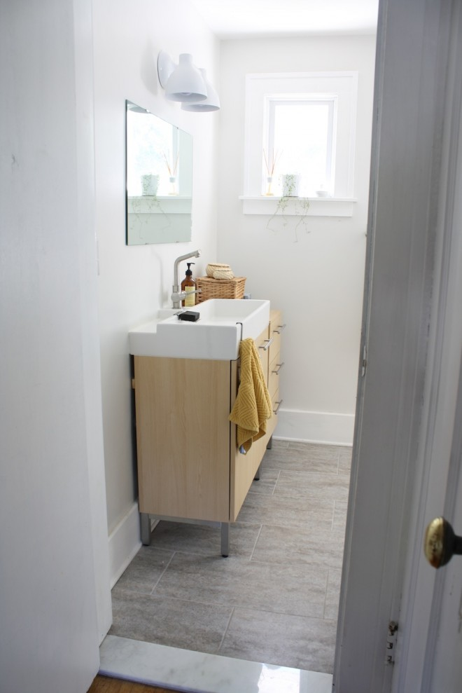 The vanity was update too, as was the baseboard and window trim.