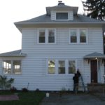 House with no shutters, but before the new siding project began! Huge difference.