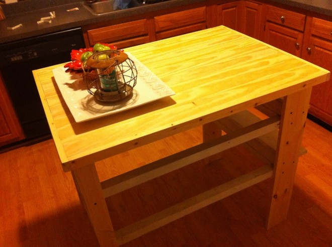 New kitchen island, assembled!