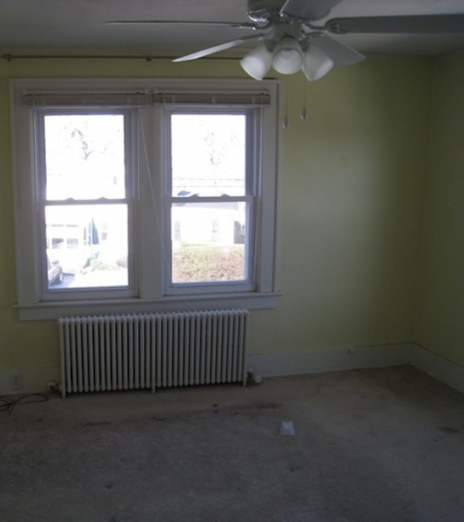 The master bedroom, the day I moved in.