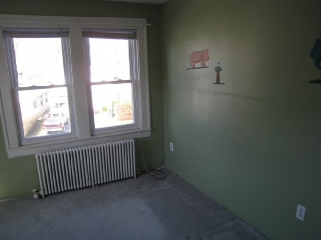 The third bedroom, a nursery.