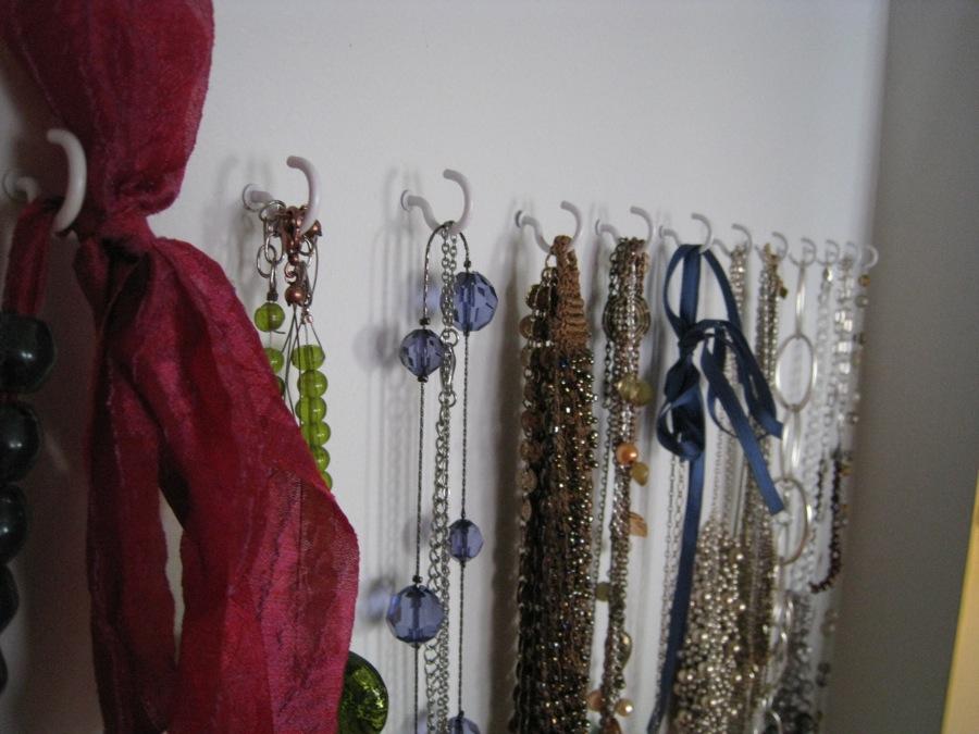 Simple necklace hooks.