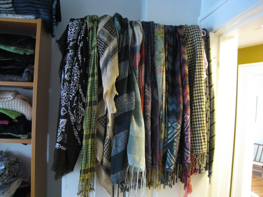 Door to display scarves.