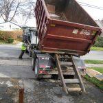 Unloading the dumpster!