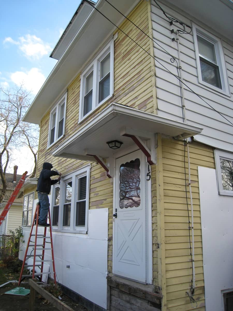 New vinyl siding installed what a beautiful thing merrypad - Exterior house insulation under siding ...