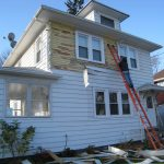 Starting to remove siding from the front!
