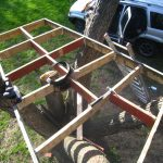 Added cross-braces (is there a different name for these?) to reinforce the strength of the joists.