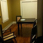 Re-updated dining room. Buh-bye pink, I'll miss you, but not too much.