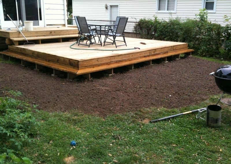 So proud of my new deck and freshly graded backyard.