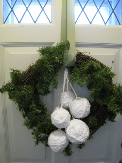 Final lovely wreath. Weird that I like it hanging inside more than out?