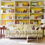 Love the paint showing through - this picture was the inspiration for my own built-ins.
