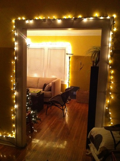 Dining and living room lights.
