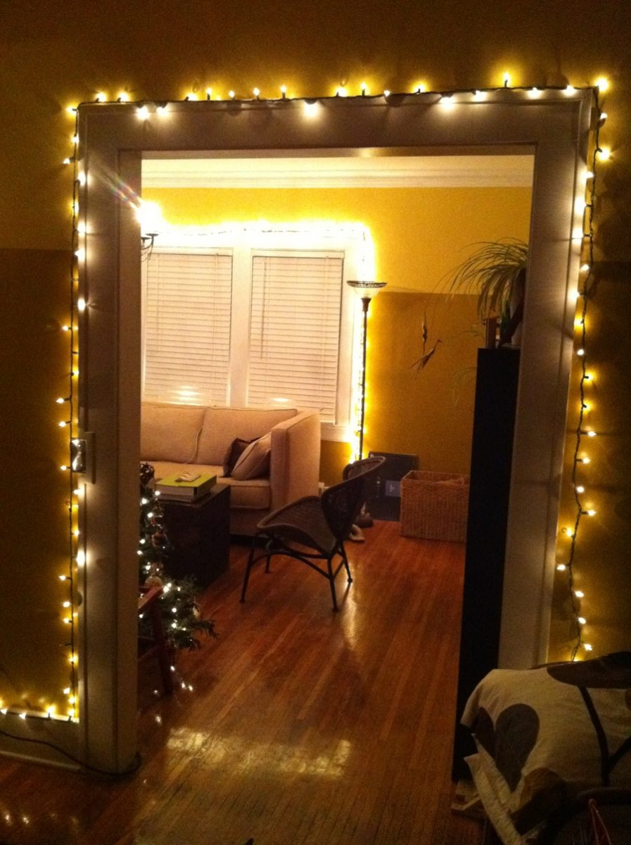 White christmas lights everywhere merrypad for How to light up a room