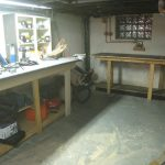 Final workbench and gardening table in place!