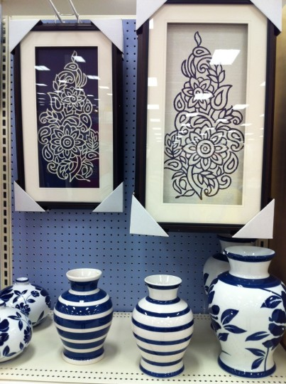 Love the deep blues in this collection at Target.