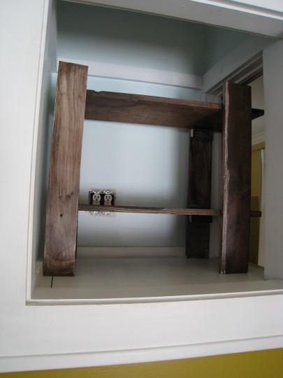 Little DIY shelf adds lots of storage space.