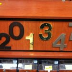 Heavier weight numbers at a local hardware store.