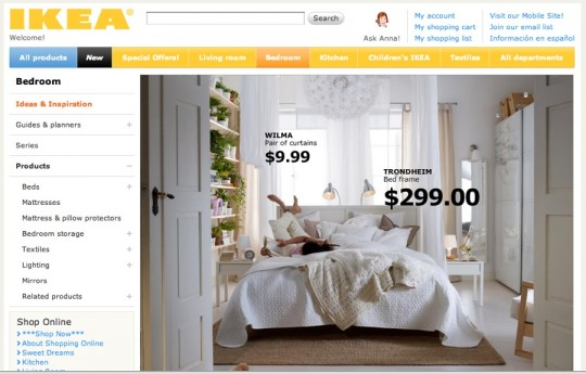 IKEA Bedroom Inspiration Board. Directly from IKEA.com.