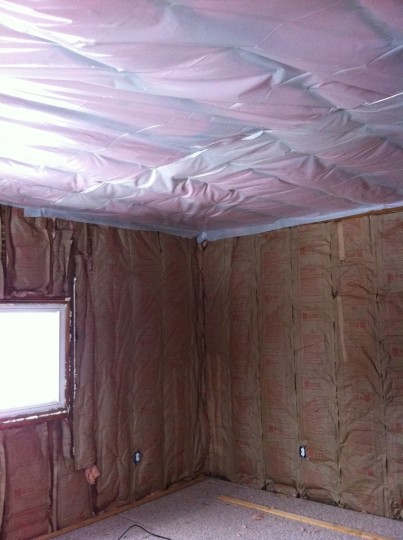 Insulated walls and ceiling. Success.