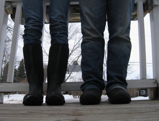 His and hers Muck Boots.