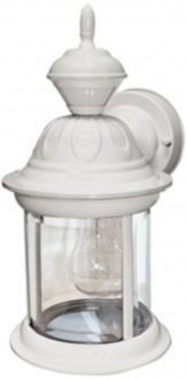 Light #6. Bridgeport Matte White ENERGY STAR® Outdoor Wall Light from LampsPlus.com