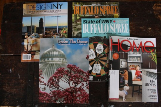 Freebie magazines. I hand-selected my favorites.