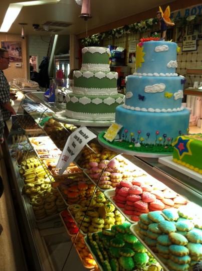 Carlo's store interior. Yum, cakes.
