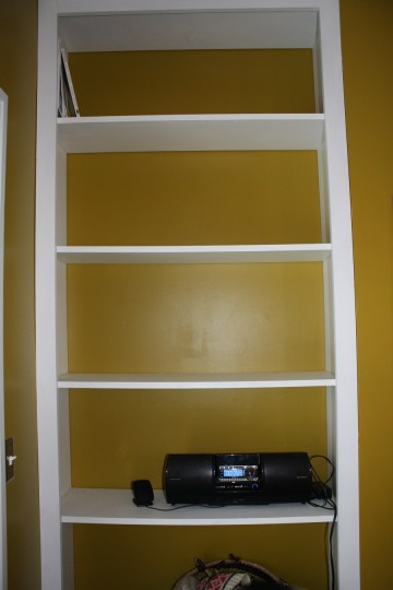 Emptier, bowing shelves.