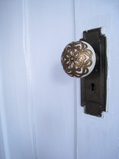 A dainty Anthropologie doorknob to my bedroom.