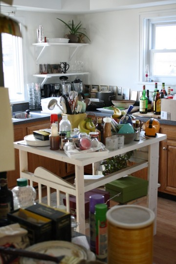 And, the kitchen is a crazy mess too.