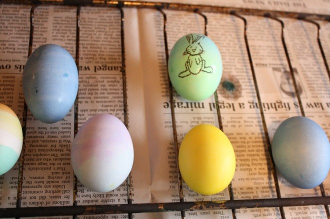 Bunny egg, thanks to Crayola.