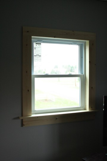 New frame, all the way around the window!