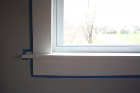 Very happy with this clean, sleek window sill.