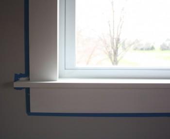 Window trim finishing.