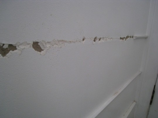 The wall was damaged slowly as I remove the super-glued quarter round.