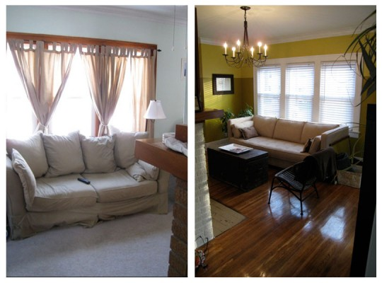 Living Room: Before + After