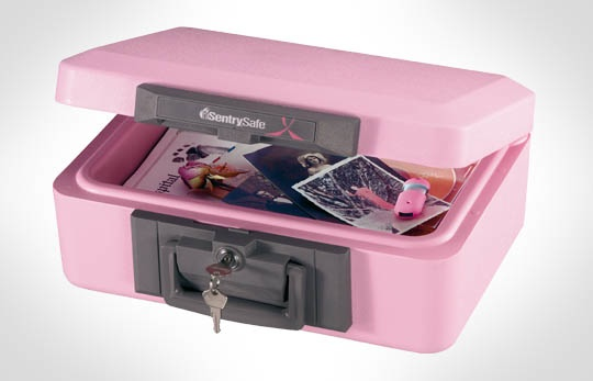 Sentry Safe in Pink; just comment on this post for an opportunity to WIN.
