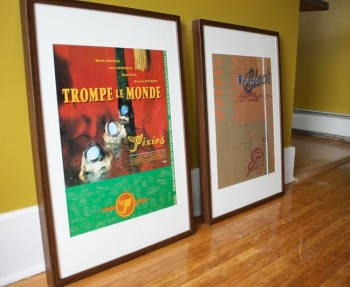 Pixies and Frank Black Posters, framed.