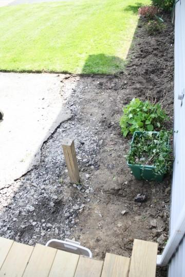 Extended garden, shortened driveway.