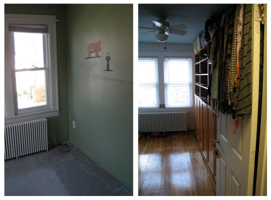 Walk-in Closet: Before + After