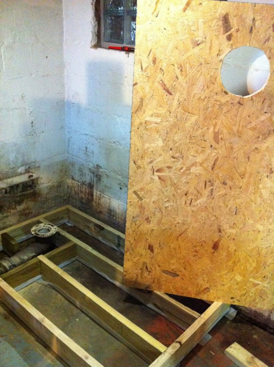 platform along with a piece of osb to serve as a floor