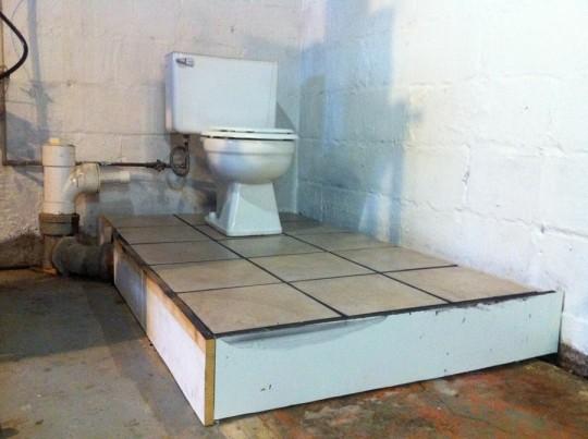 Finished Bathroom Platform