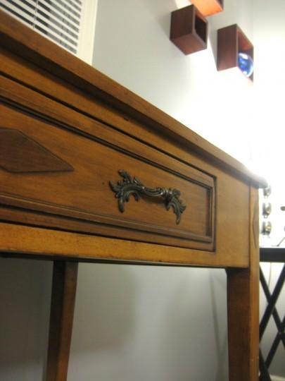 A desk made by Katrina's Grandpa.