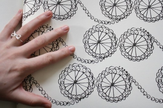 Coloring book pattern.