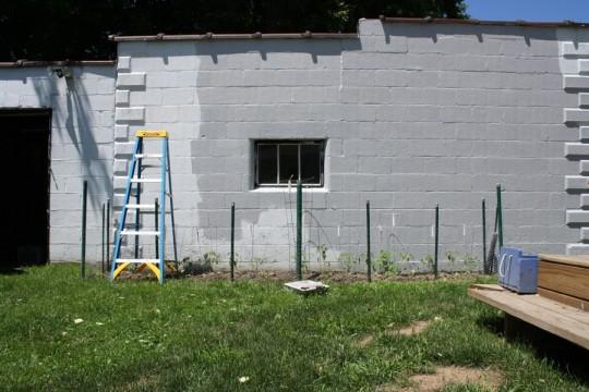 Making good progress on painting the garage.