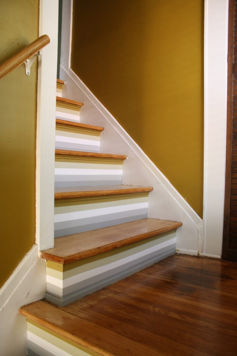 How To Paint Stripes On Stairs Merrypad