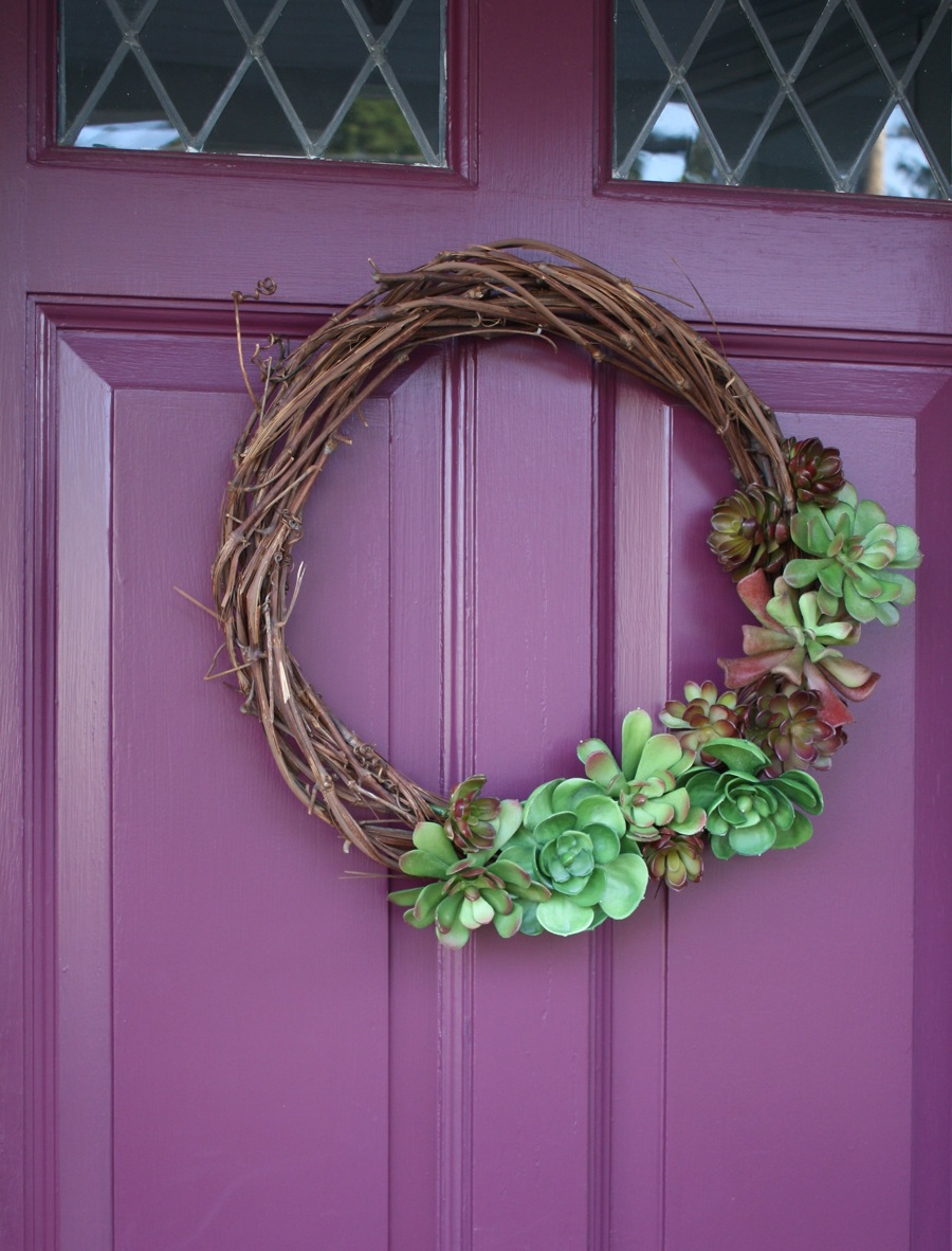Decorating A Wreath With Succulents Merrypad
