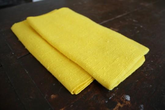 Brand new bright yellow napkins.
