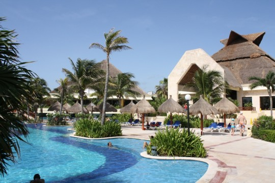Pools, palapas, and thatched roofs everywhere you turned at the Gran Bahia Principe.